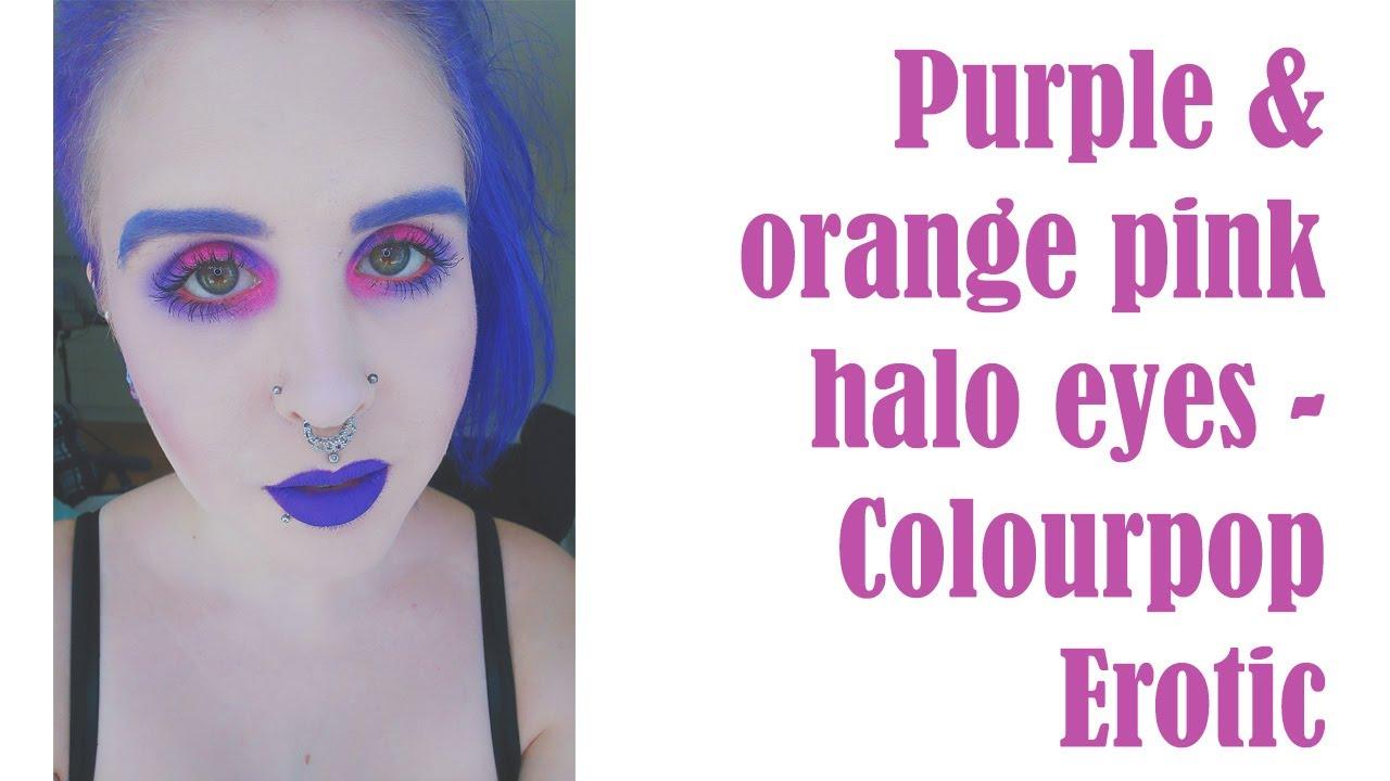 Purple orangepink halo eye using colourpop erotic sss l makeup purple orangepink halo eye using colourpop erotic sss l makeup tutorial l makeupbyannki baditri Image collections