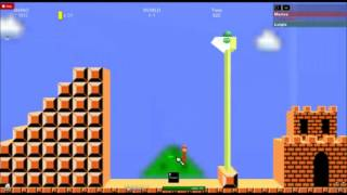 Roblox (PC) - Super Mario Bros World 1-1 2D Gameplay