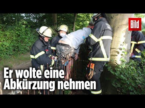 Mann will über Zaun klettern und spießt sein Bein auf   Hamburg