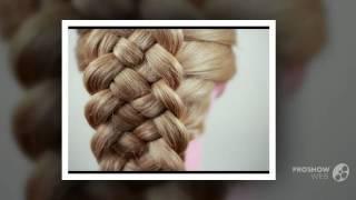 плетение волос с челкой_плетение волос средней длины