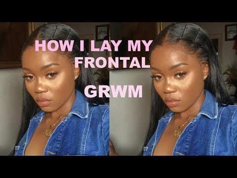HOW I LAY MY FRONTAL | GET READY WITH ME