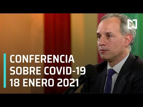 Conferencia Covid-19 en México - 18 enero 2021