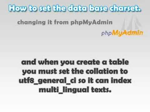 php-mysql: How to use all the text characters on your site