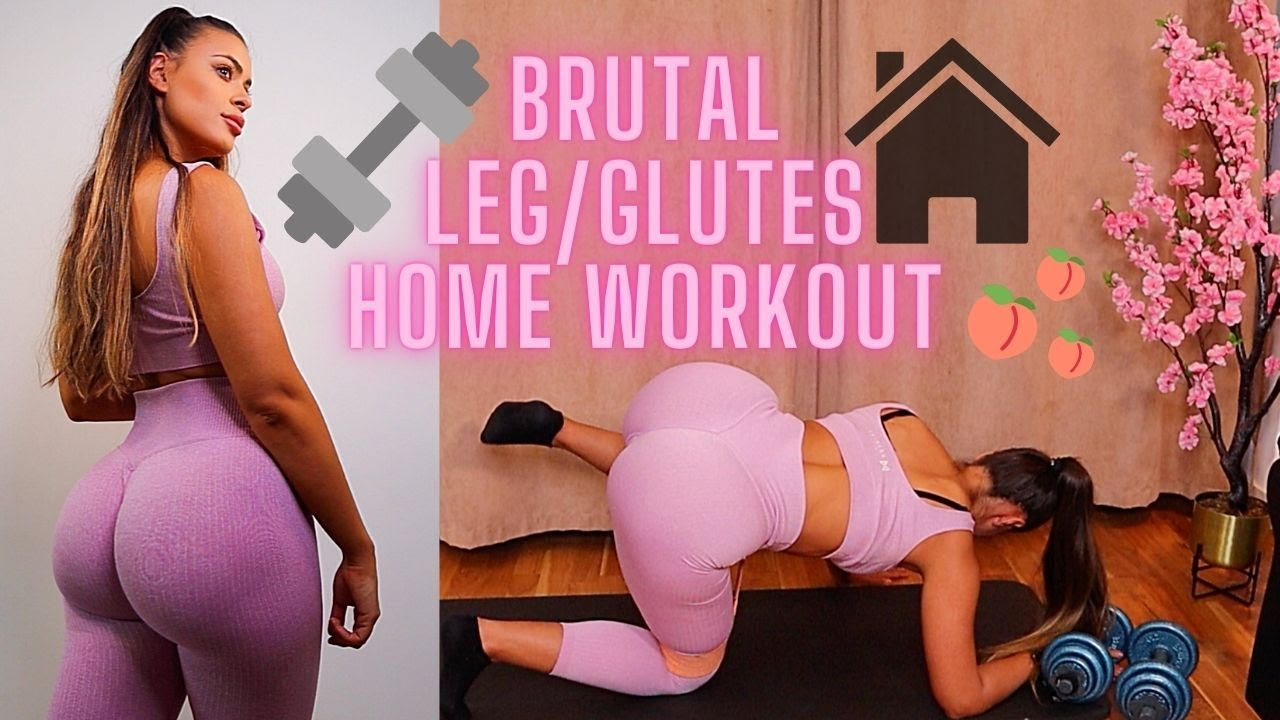 Most intense leg and glute workout at home + Recovery tips