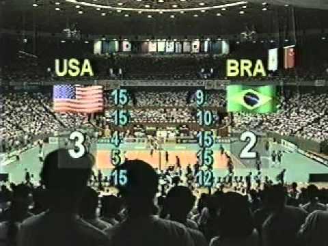 USA Brazil 1995 Volleyball GP Final Part 3