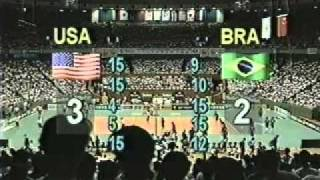 USA Brazil 1995 Volleyball GP Final Part 3