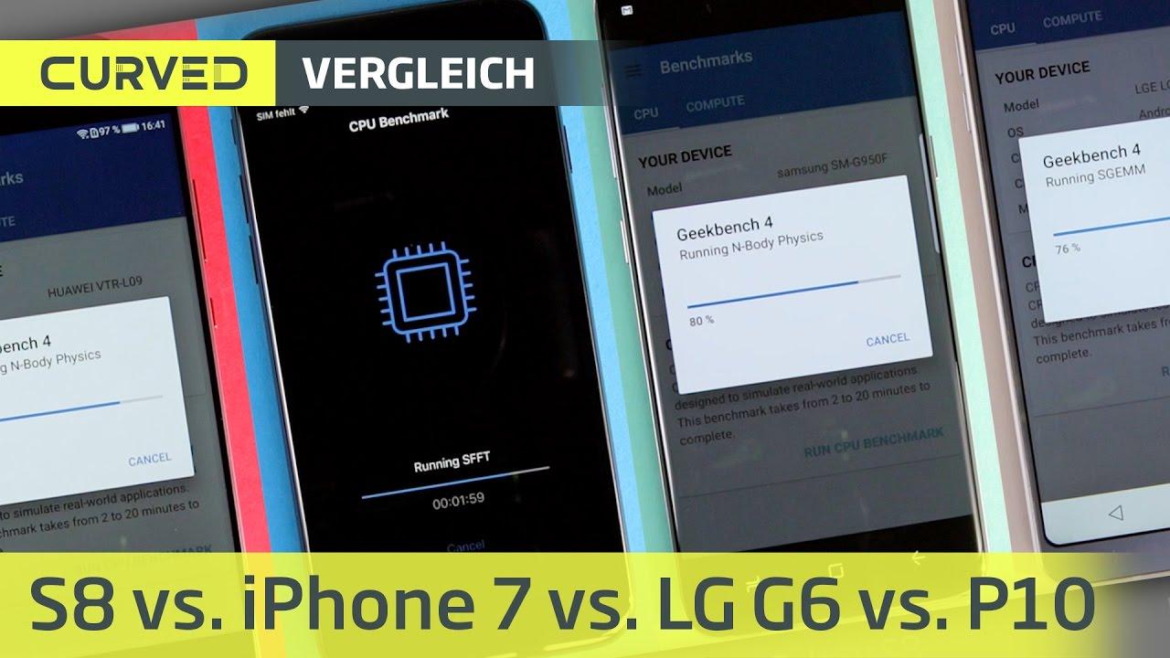 Benchmark iphone 7 vs galaxy s8