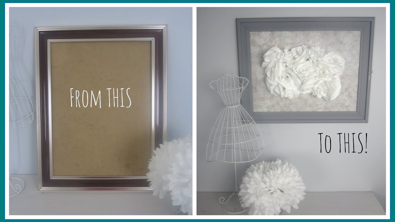 DIY Decor} From Outdated Frame to Vintage Inspired Art - YouTube