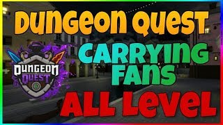 CARRYING FANS IN ROBLOX DUNGEON QUEST
