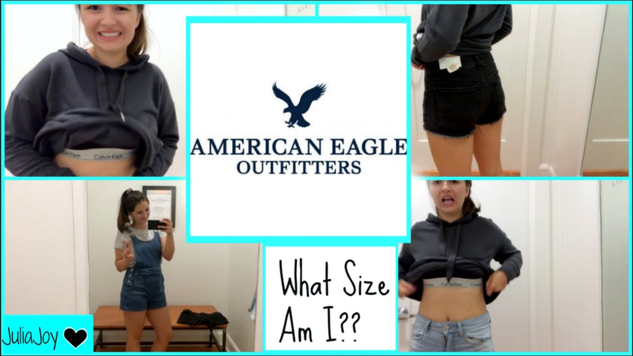 Size 6 Girl Tries On American Eagle What Size Am I Youtube