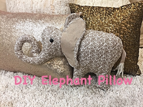 Diy Elephant Pillow Youtube