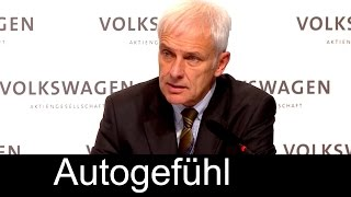 VW Volkswagen Dieselgate Abgas-Skandal Pressekonferenz Fragen & Antworten mit Vorstand