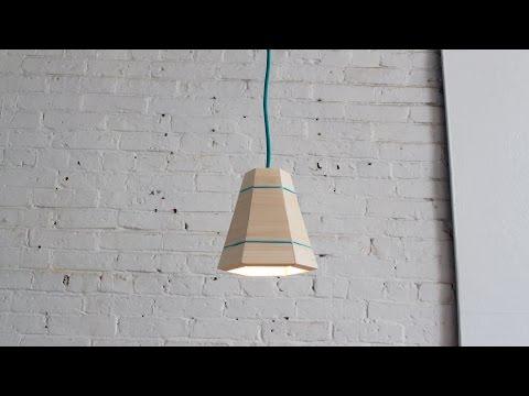 DIY Wood Pendant Lamp
