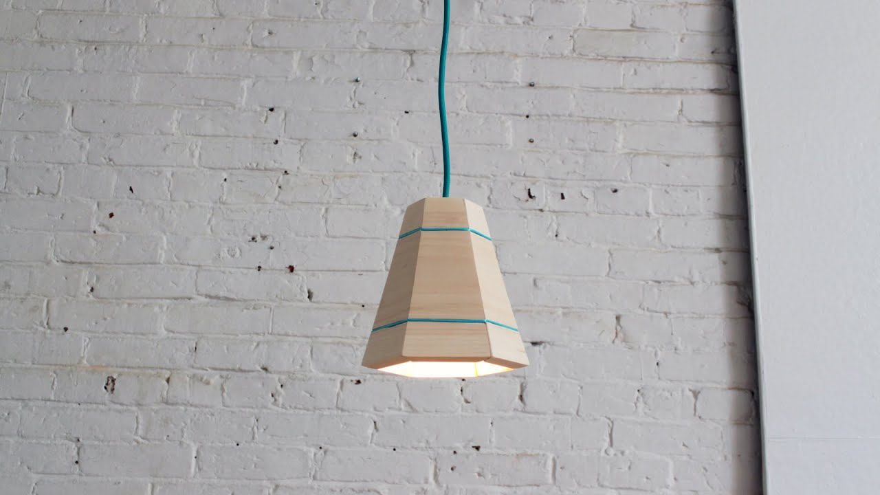 Diy wood pendant lamp youtube mozeypictures Images