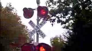 1 MILLION VIEWS!  Amtrak @ High Street Railroad crossing in Amherst MA.
