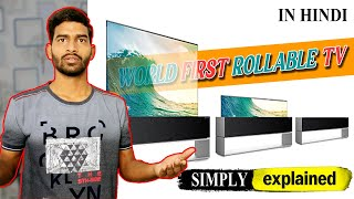 A 65-inch LG rollable OLED TV …