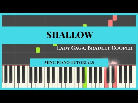Shallow - Lady Gaga Bradley Cooper (FREE midi sheets) Ming Piano Tutorials