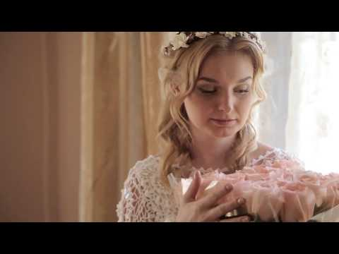 Вязаное свадебное платье крючком