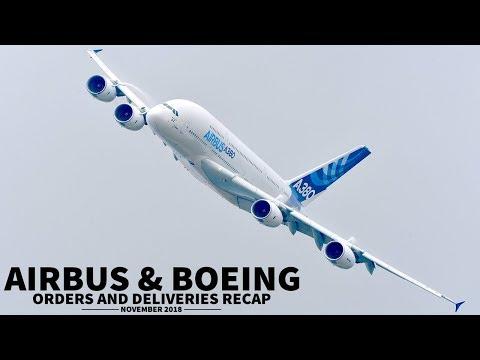 Airbus & Boeing ORDERS + DELIVERIES | November 2018