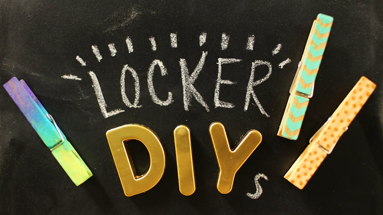 5 easy locker decoration ideas youtube - Locker Designs Ideas
