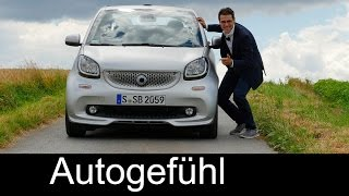 Smart Brabus fortwo & forfour FULL REVIEW test driven neu new 2017 - Autogefühl