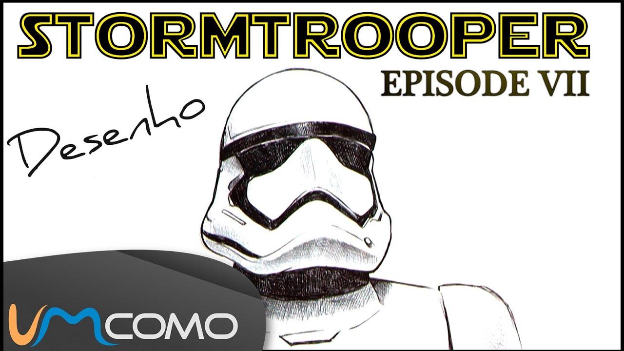 desenhar um stormtrooper do episodio vii guerra nas estrelas