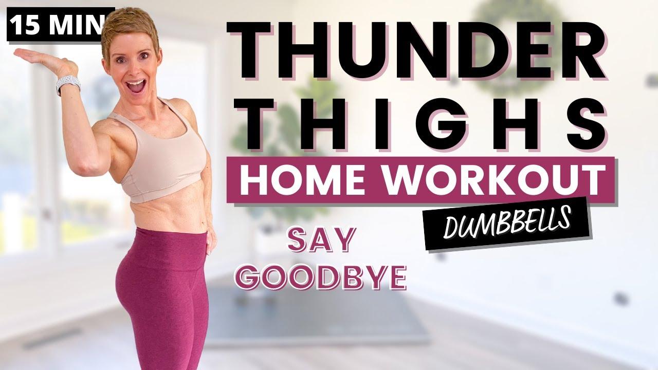 THIGH WORKOUT - 15 Min Thigh Fat Workout 4K
