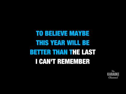 "A Long December in the Style of ""Counting Crows"" karaoke video with lyrics (no lead vocal)"