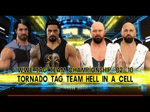 roman reigns seth rollins vs the club tornado hell in a. Black Bedroom Furniture Sets. Home Design Ideas