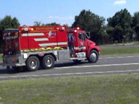 Brownsboro, Tx Tanker 1 responding to a structure fire