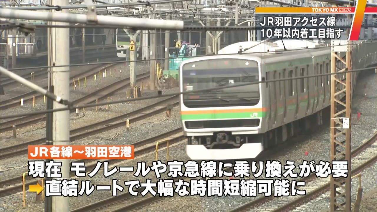"JR東日本 羽田アクセス線""10年後開業""目標に - YouTube"