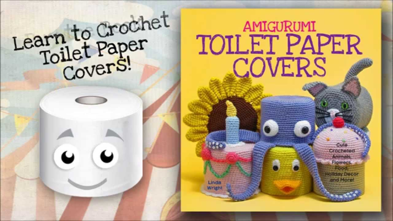 Knitting Pattern For Toilet Paper Holder : Crocheted Toilet Paper Covers - YouTube