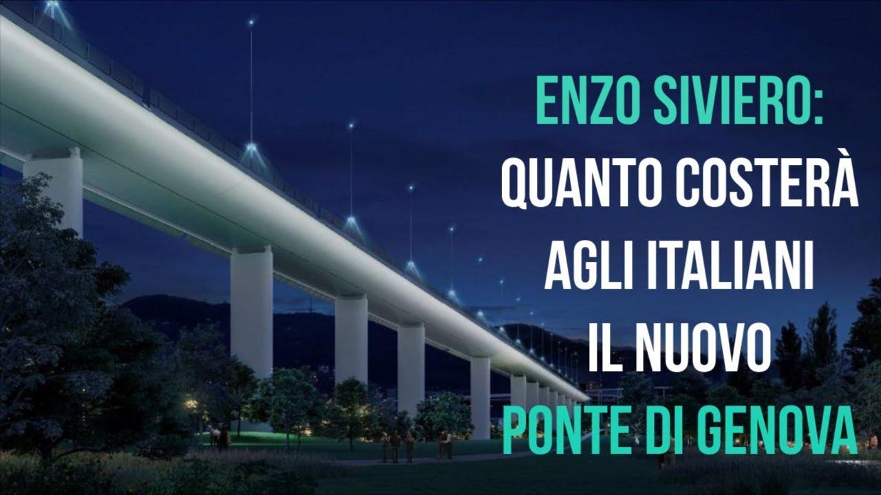 Enzo Siviero: Quanto costerà agli italiani il nuovo ponte di Genova