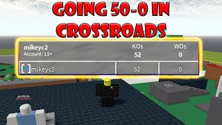 Roblox: 50-0 Game of Crossroads FFA (Gameplay)