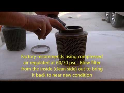 R2C filter cleaning dry and wet