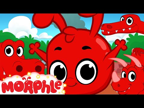 Morphle and the Dinosaurs (+1 hour funny Morphle kids videos compilation with cars, trucks, bus etc)