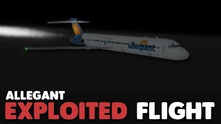 EXPLOITED! | Allegant Flight! | Roblox