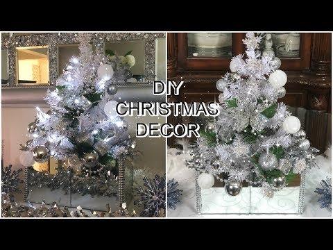 💎🎀DOLLAR TREE DIY CHRISTMAS DECOR | MIRROR CHRISTMAS TREE | PETALISBLESS 🎀💎