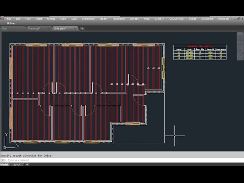 Autocad Architectural Automatic Joist Layout In Autocad Autocad