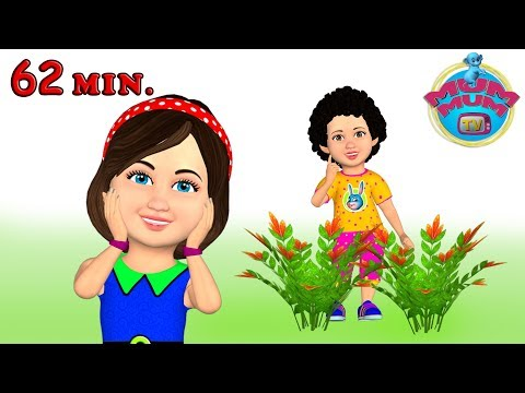 Chubby Cheeks Dimple Chin | Wheels on the Bus | Popular Nursery Rhymes Collection - Mum Mum TV