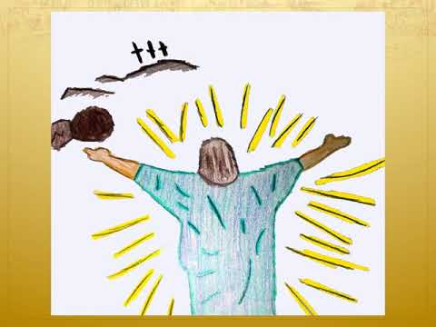 April 12, 2020   Easter Sunday   Resurrected Christ drawings by Reitz Memorial High School Students