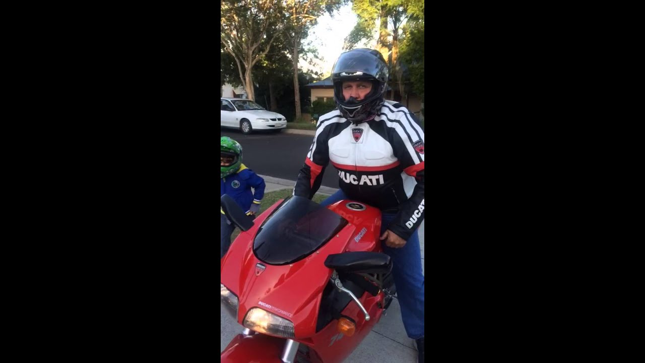 The joy of an 8 year onl on a Ducati