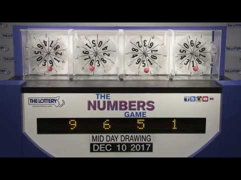 Midday Numbers Game Drawing: Sunday, December 10, 2017