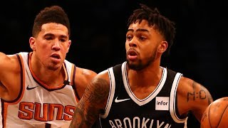 D'Angelo Russell and Devin Booker Duel in Brooklyn | October 31, 2017