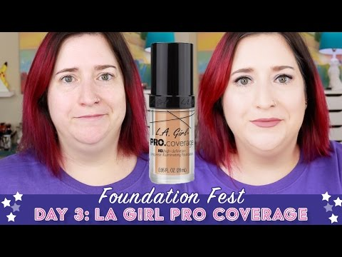 FOUNDATION FEST | LA Girl Pro Coverage | Pale, Dry Skin