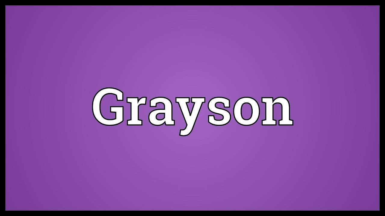 Grayson Letter Tracing For Kids Trace My Name Workbook ...  |Grayson Name