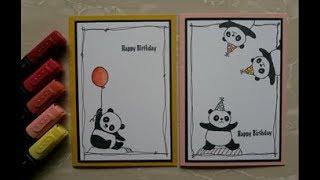 Cute Panda Cards!! (Stampin'Up)