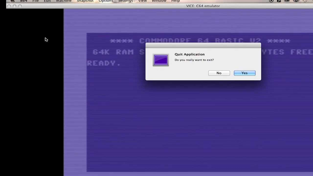 Accessing V-1541 and CometChat in VICE for Mac OSX | CommodoreServer com