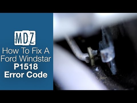 2001 Ford Windstar fix for Check Engine Light code P1518 - Intake Manifold Runner Control Stuck Open