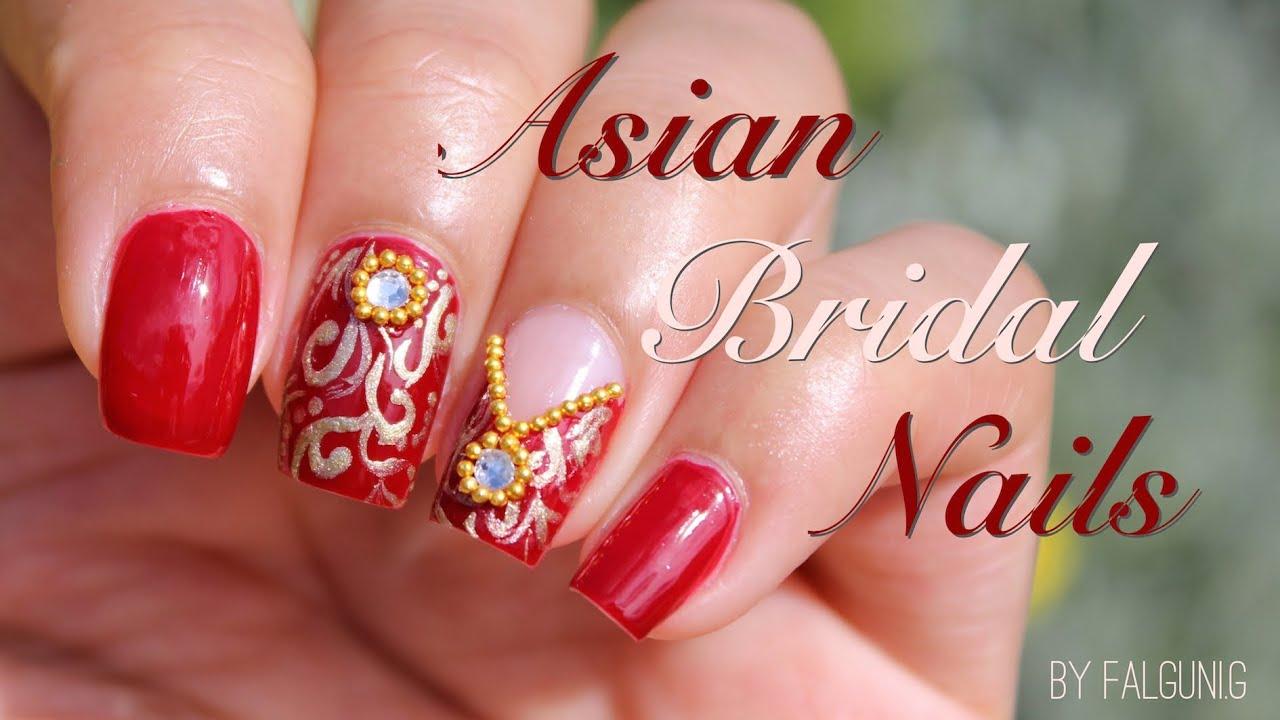 Asian Bridal Nail Art Tutorial